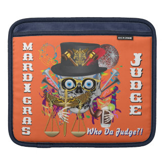Mardi Gras Judge 30 colors Important view notes Sleeve For iPads
