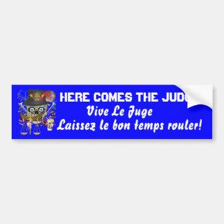 Mardi Gras Judge 30 colors view notes Bumper Sticker