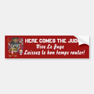 Mardi Gras Judge 30 colors view notes Bumper Stickers