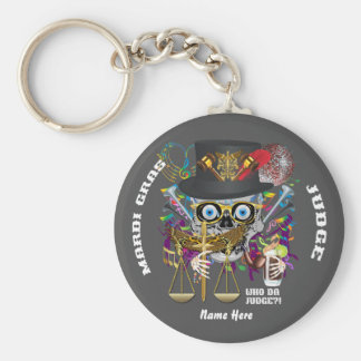 Mardi Gras Judge 30 colors view notes Important Key Chain