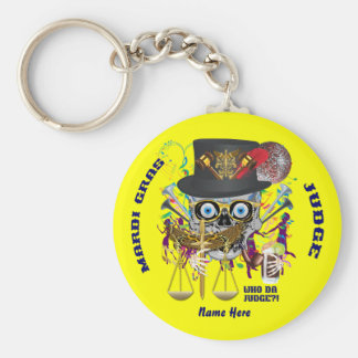Mardi Gras Judge 30 colors view notes Important Keychain