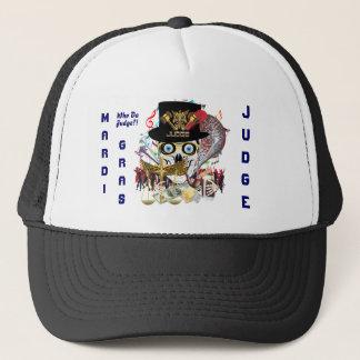 Mardi Gras Judge Design 2 view notes Trucker Hat