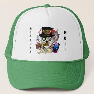 Mardi Gras Judge Design 3 Appelez-moi Trucker Hat