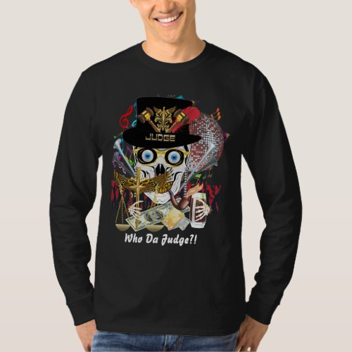 Mardi Gras Judge Fits Any Style Dark Apparel T_Shirt
