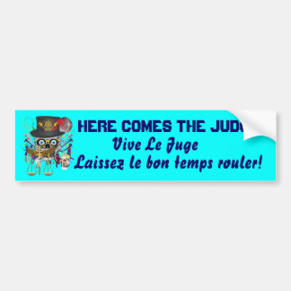 Mardi Gras Judge view notes Bumper Stickers