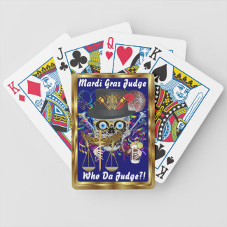 Mardi Gras Judge View Notes Please Bicycle Playing Cards