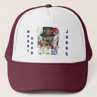 Mardi Gras Judge view notes Trucker Hat
