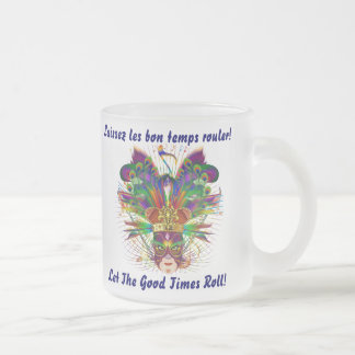 Mardi Gras King add your own View notes please Frosted Glass Coffee Mug