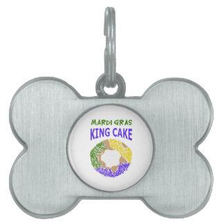 MARDI GRAS KING CAKE PET NAME TAG