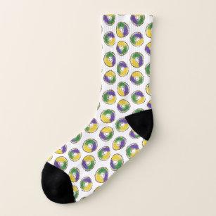 Purple Mardi Gras King Cake Socks