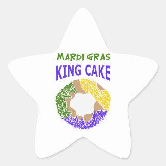 MARDI GRAS KING CAKE STAR STICKER
