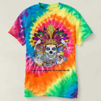 Mardi Gras King of Time 1 Mens view notes below T-shirt