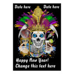 Mardi Gras King of Time 36X50 View Notes Please Posters