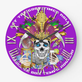Mardi Gras King of Time  View Hints Please Clock