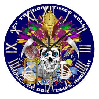 Mardi Gras King of Time  View Hints Please Round Wallclocks
