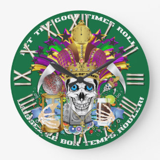 Mardi Gras King of Time  View Hints Please Round Clocks