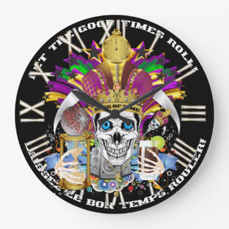 Mardi Gras King of Time  View Hints Please Round Clock