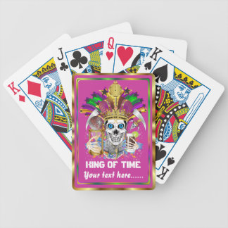 Mardi Gras King of Time View Notes Please Bicycle Playing Cards