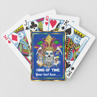 Mardi Gras King of Time View Notes Please Poker Cards