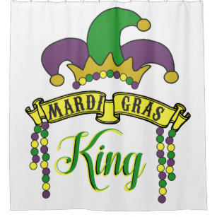 Mardi Gras King Shower Curtain