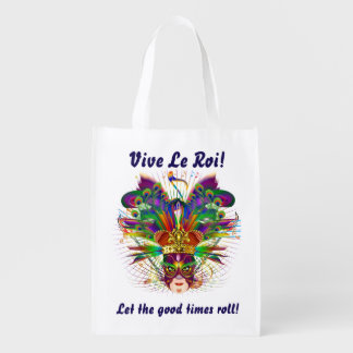 Mardi Gras King View About Design Below Reusable Grocery Bag