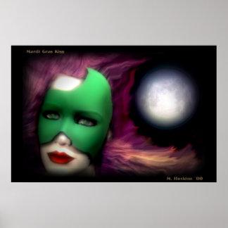 Mardi Gras Kiss Poster