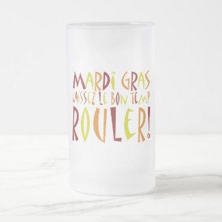 Mardi Gras - Laissez Le Bon Temp Rouler! Frosted Glass Beer Mug