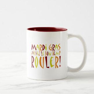 Mardi Gras - Laissez Le Bon Temp Rouler! Two-Tone Coffee Mug