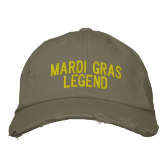 Mardi Gras Legend Embroidered Baseball Cap