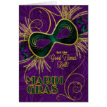 Mardi Gras Let the Good Times Roll! Card