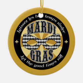 Mardi Gras Logo Christmas Ornament