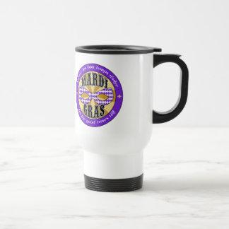 Mardi Gras Logo Travel Mug
