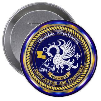 Mardi Gras Louisiana Bicentennial 1812-2012 Buttons