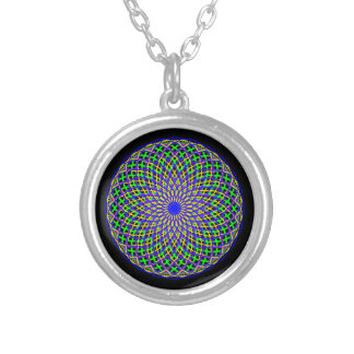 Mardi Gras Madness Silver Plated Necklace