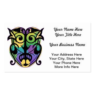 Mardi Gras Magic Mask Business Card Template