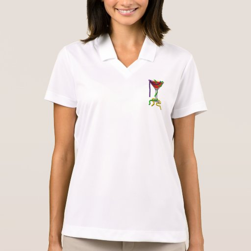 Mardi Gras Martini Polo T-shirt