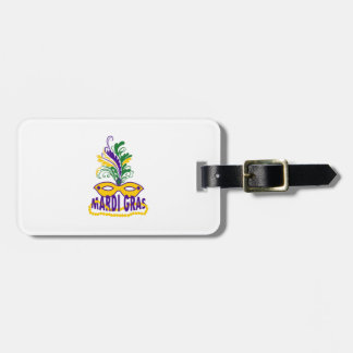 MARDI GRAS MASK AND BEADS TAGS FOR LUGGAGE
