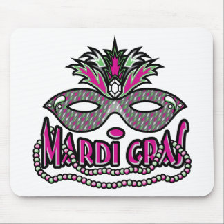 Mardi Gras Mask and Beads Mouse Pad