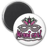 Mardi Gras Mask and Beads Refrigerator Magnet
