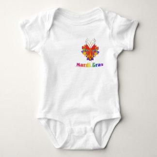 Mardi Gras Mask Baby Bodysuit