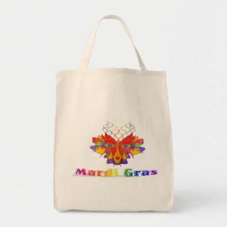 Mardi Gras Mask Canvas Bag