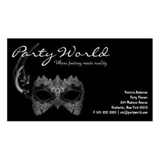 Mardi Gras Mask Black Business Cards