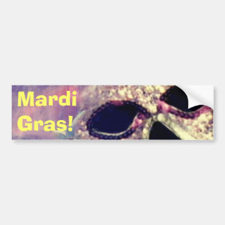 Mardi Gras Mask bumpersticker Car Bumper Sticker