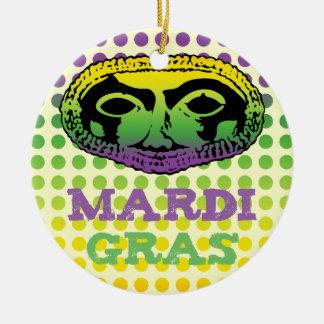Mardi Gras Mask Ceramic Ornament