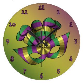 Mardi Gras Mask Clock