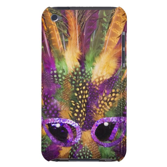 Mardi Gras mask, close-up, full frame iPod Touch Case