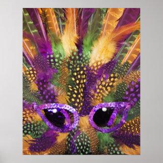 Mardi Gras mask, close-up, full frame Print