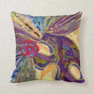 Mardi Gras Mask collage art Throw Pillow