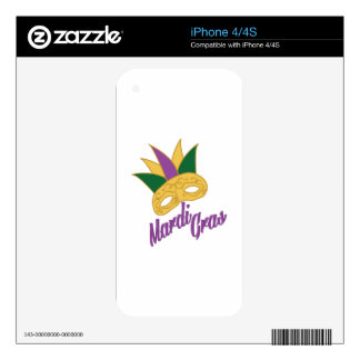 Mardi Gras Mask Decals For iPhone 4