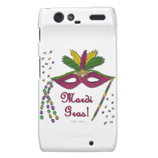 Mardi Gras Mask Feather Beads Droid RAZR Case